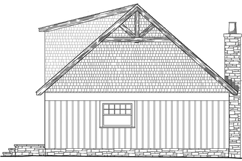 Craftsman Exterior - Rear Elevation Plan #137-363 - Houseplans.com