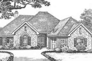 European Exterior - Front Elevation Plan #310-425