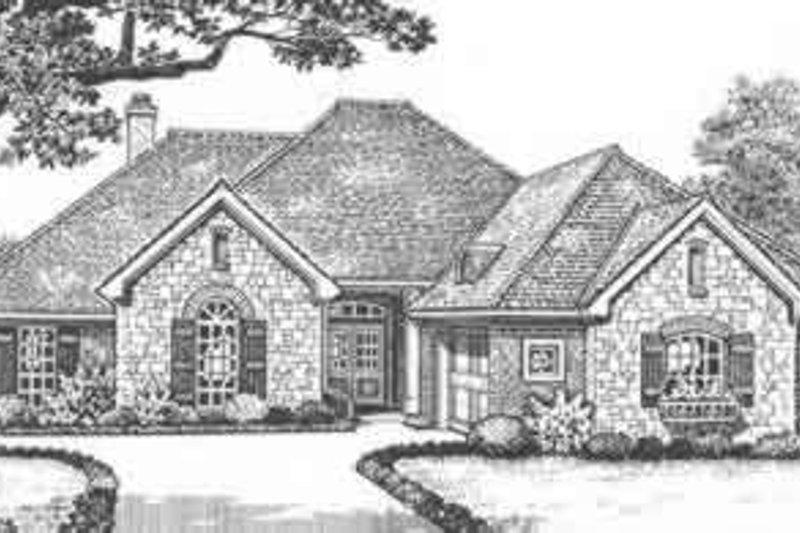 European Exterior - Front Elevation Plan #310-425 - Houseplans.com