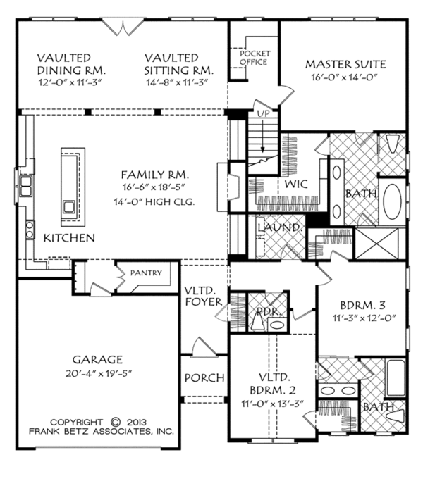 Traditional Floor Plan - Main Floor Plan Plan #927-960