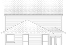 Home Plan - Traditional Exterior - Rear Elevation Plan #84-571