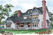Victorian Exterior - Front Elevation Plan #72-892