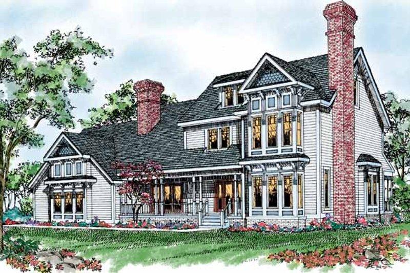 Victorian Exterior - Front Elevation Plan #72-892 - Houseplans.com