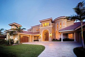 Home Plan - Mediterranean Exterior - Front Elevation Plan #1017-14