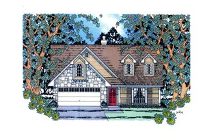 Home Plan - Country Exterior - Front Elevation Plan #42-367