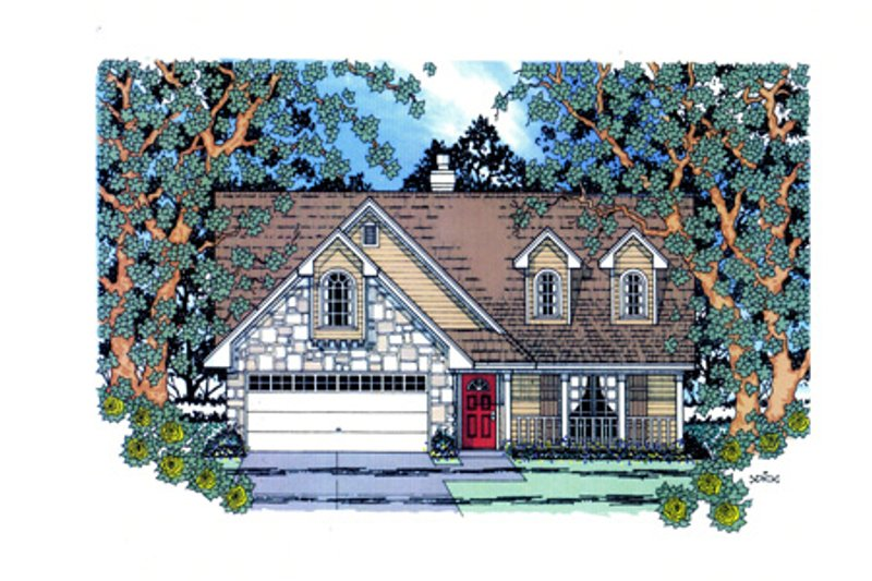 Country Exterior - Front Elevation Plan #42-367 - Houseplans.com