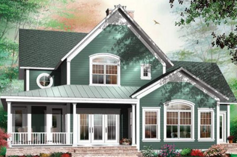 Country Exterior - Rear Elevation Plan #23-420 - Houseplans.com