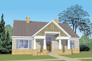 Dream House Plan - Craftsman Exterior - Front Elevation Plan #1029-61