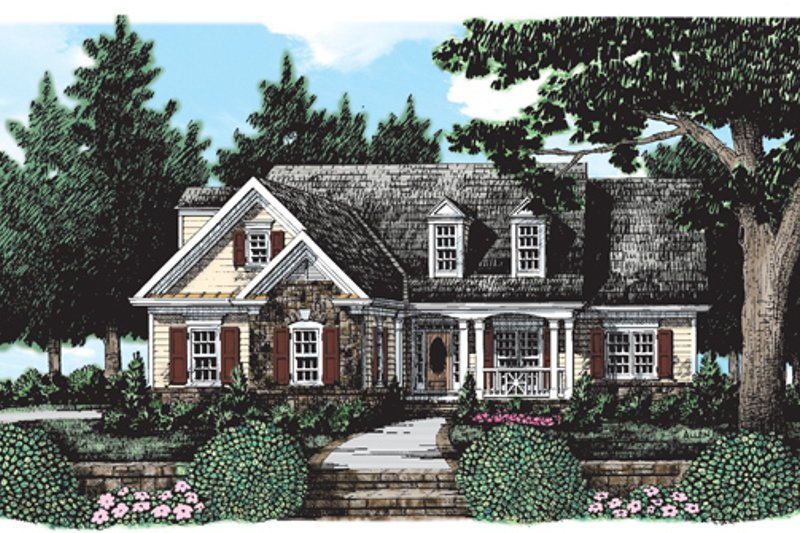 Country Exterior - Front Elevation Plan #927-377