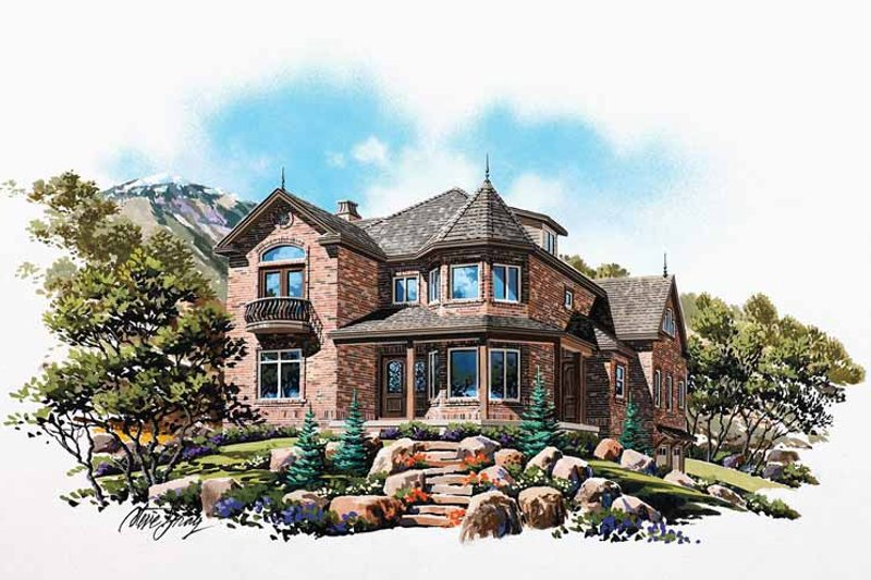 Country Exterior - Front Elevation Plan #945-78