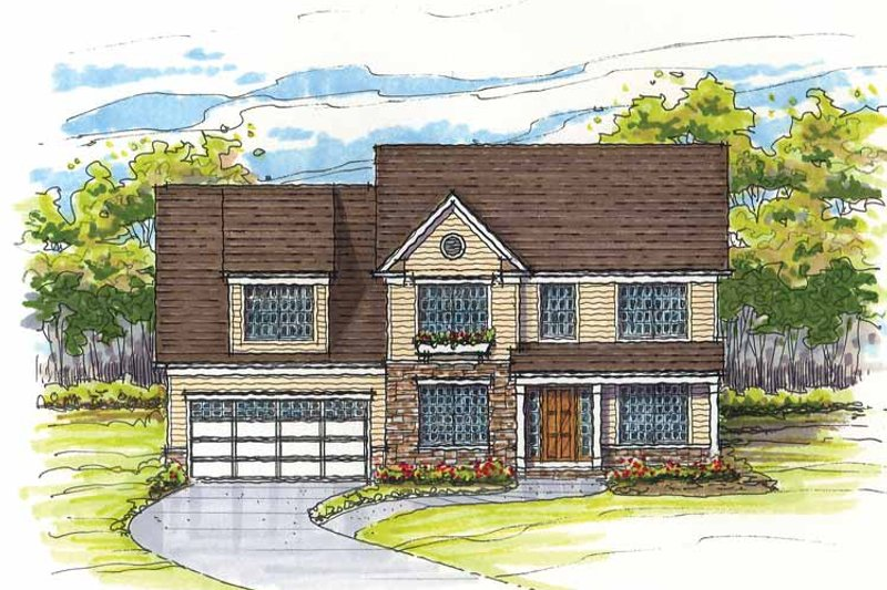 Traditional Exterior - Front Elevation Plan #435-11 - Houseplans.com