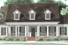 Southern Exterior - Front Elevation Plan #1054-19