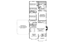 Ranch Floor Plan - Main Floor Plan Plan #137-369
