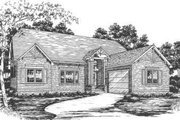 Ranch Style House Plan - 3 Beds 2 Baths 1992 Sq/Ft Plan #30-167 Exterior - Front Elevation