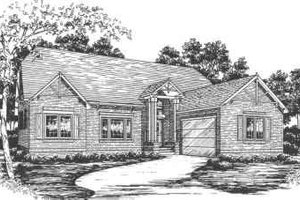 Ranch Exterior - Front Elevation Plan #30-167
