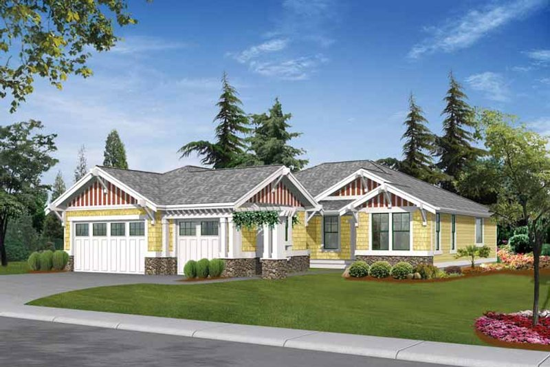 Craftsman Exterior - Front Elevation Plan #132-337