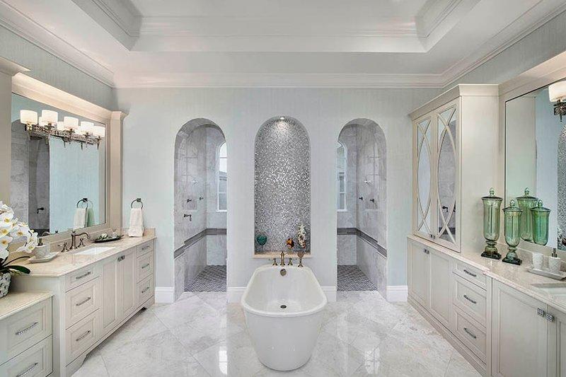 Mediterranean Interior - Master Bathroom Plan #1017-166 - Houseplans.com