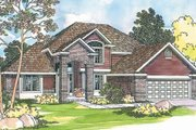 Traditional Style House Plan - 3 Beds 2.5 Baths 2241 Sq/Ft Plan #124-382 Exterior - Front Elevation