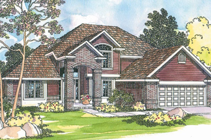 Traditional Exterior - Front Elevation Plan #124-382