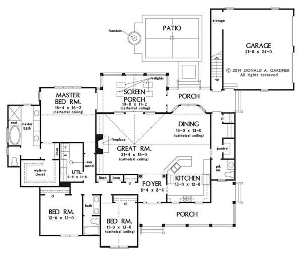 Country Floor Plan - Main Floor Plan Plan #929-976