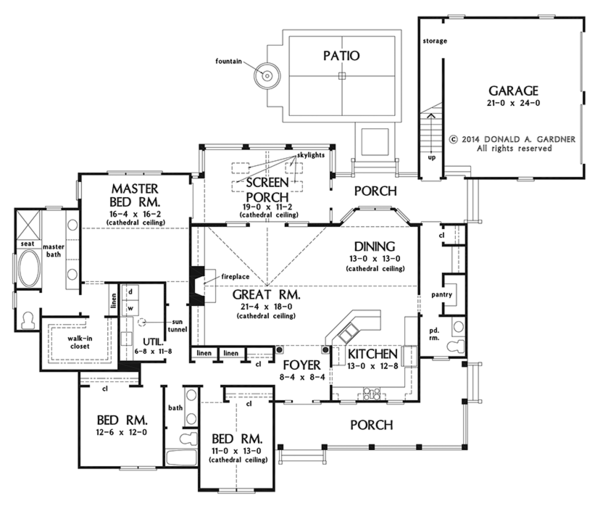Country Floor Plan - Main Floor Plan Plan #929-976