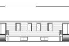 Architectural House Design - Craftsman Exterior - Rear Elevation Plan #23-2592