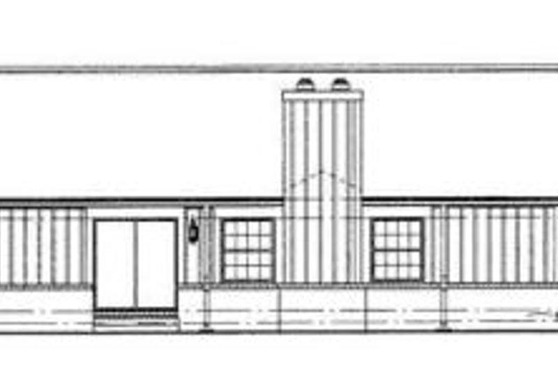 Ranch Exterior - Rear Elevation Plan #72-129 - Houseplans.com