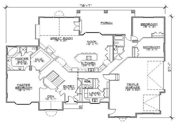 European Floor Plan - Main Floor Plan Plan #5-312
