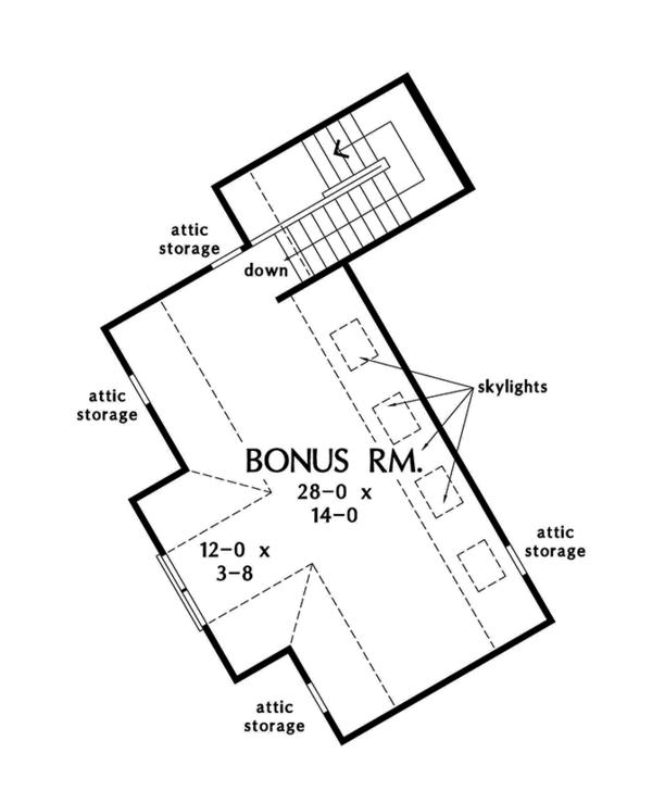 Craftsman Floor Plan - Other Floor Plan Plan #929-970