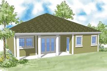Country Exterior - Rear Elevation Plan #930-369
