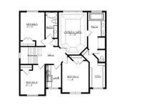 Craftsman Floor Plan - Upper Floor Plan Plan #320-494