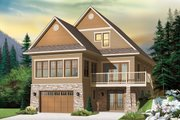 Country Style House Plan - 4 Beds 3.5 Baths 2927 Sq/Ft Plan #23-2495 Exterior - Front Elevation