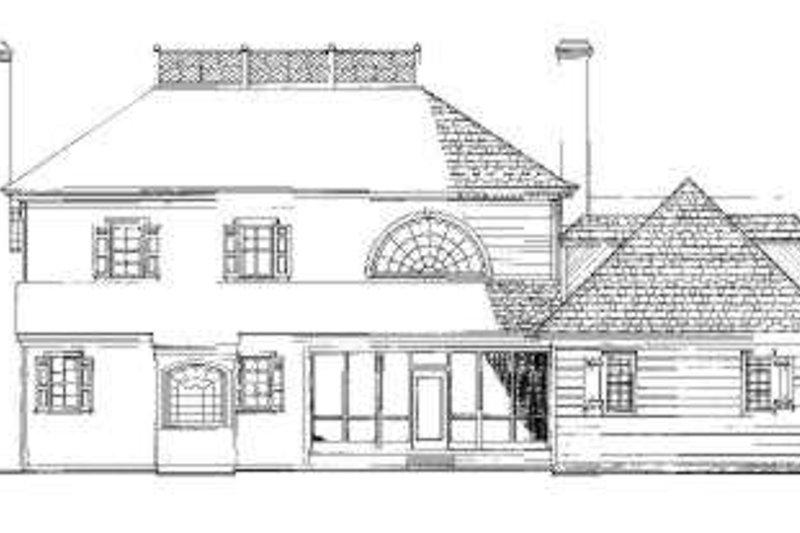 Southern Exterior - Rear Elevation Plan #137-218 - Houseplans.com