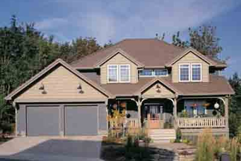 Dream House Plan - Craftsman Exterior - Front Elevation Plan #48-219