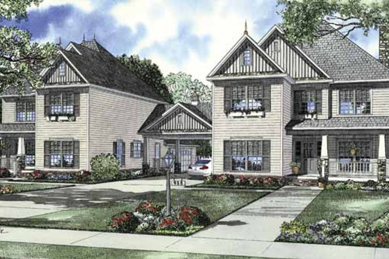 Country Exterior - Front Elevation Plan #17-2830 - Houseplans.com