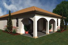 Mediterranean Exterior - Rear Elevation Plan #930-425