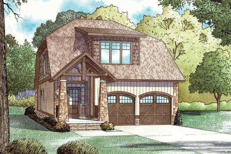 Craftsman Style House Plan - 3 Beds 2.5 Baths 1890 Sq/Ft Plan #17-2221 Exterior - Front Elevation