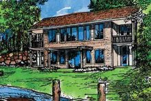 Home Plan - Prairie Exterior - Front Elevation Plan #320-1407