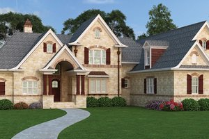 European Exterior - Front Elevation Plan #119-420