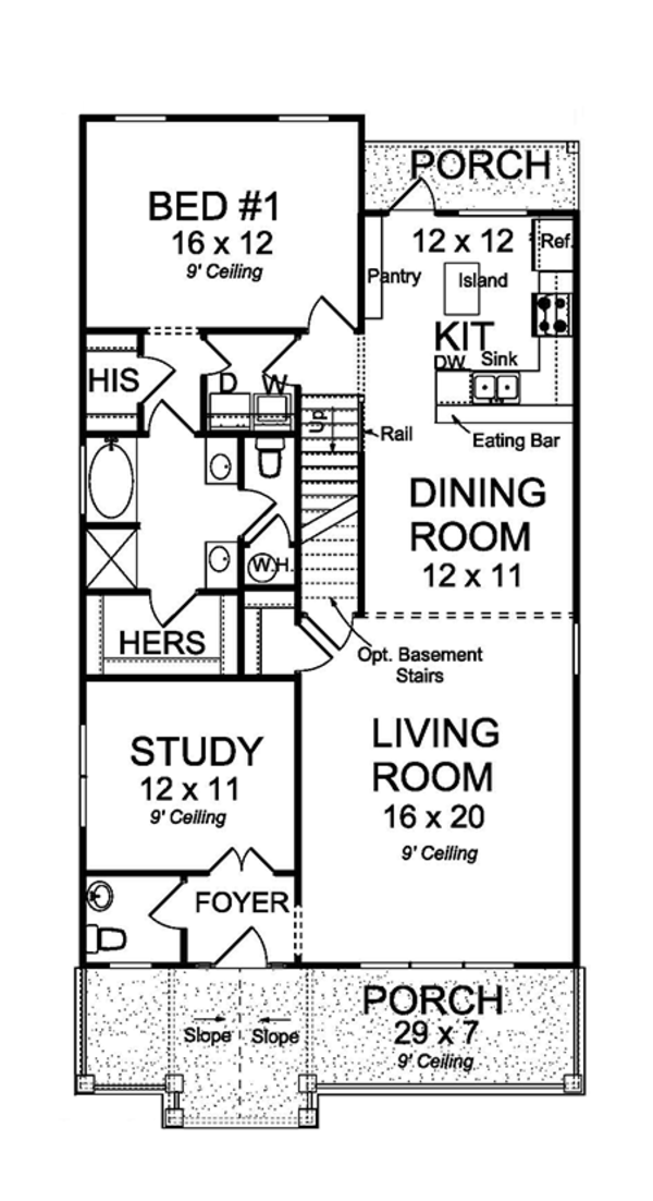 Country Floor Plan - Main Floor Plan Plan #513-2165