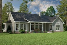 Architectural House Design - Country Exterior - Rear Elevation Plan #472-149