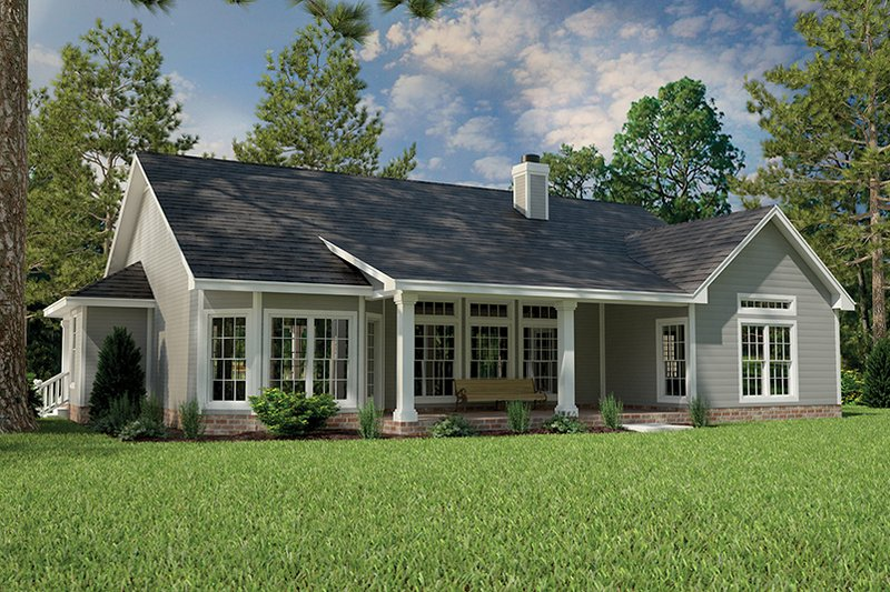 Country Exterior - Rear Elevation Plan #472-149 - Houseplans.com