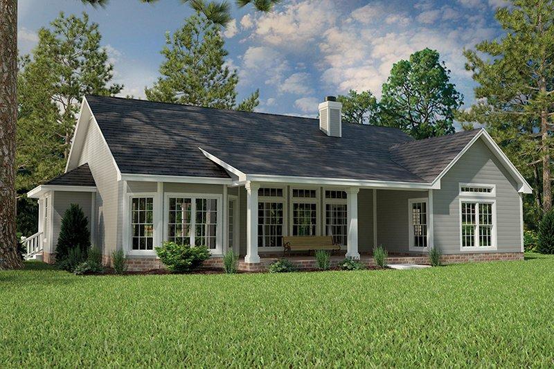Country Exterior - Rear Elevation Plan #472-149 - Houseplans.com