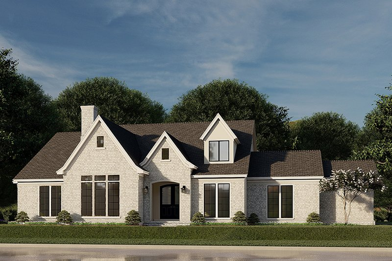 Dream House Plan - European Exterior - Front Elevation Plan #923-186