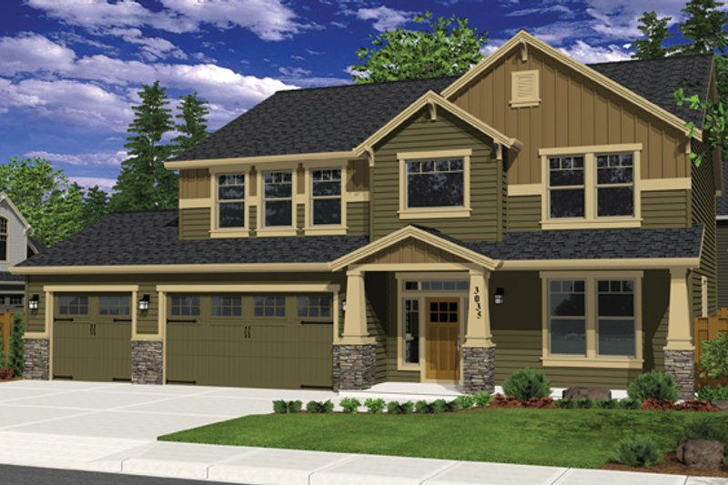 Craftsman Exterior - Front Elevation Plan #943-36 - Houseplans.com