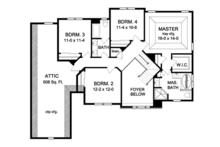 Colonial Floor Plan - Upper Floor Plan Plan #1010-60