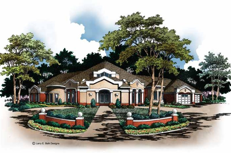 Mediterranean Exterior - Front Elevation Plan #952-81 - Houseplans.com
