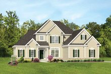 House Plan Design - Colonial Exterior - Front Elevation Plan #1010-105