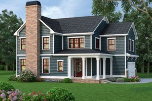 Home Plan - Traditional Exterior - Front Elevation Plan #419-312