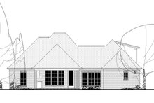 European Exterior - Rear Elevation Plan #430-136